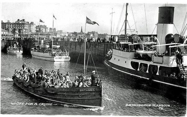 Postcard of MV Britannia circa 1930