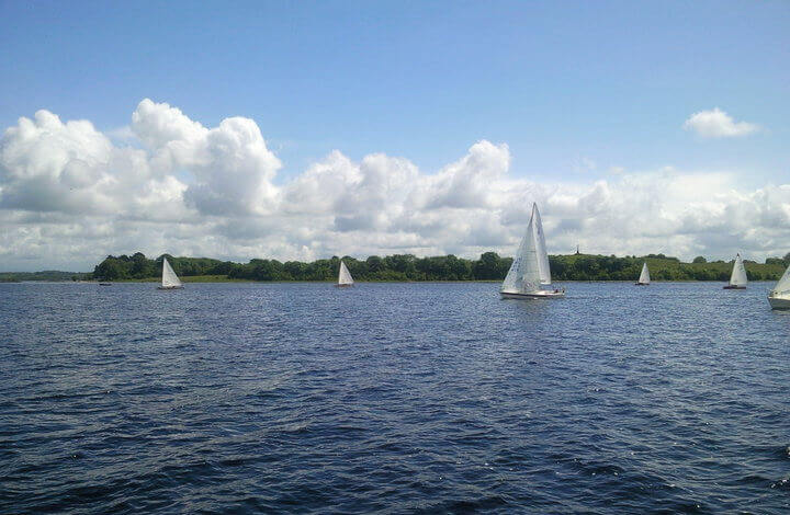 boats on Lough Ree